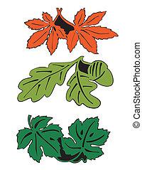 Leaves in pairs
