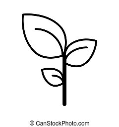 Leaves line icon. vector illustration isolated on white. outline style design, designed for web and app. Eps 10