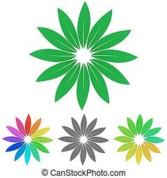 Leaves logo vector set