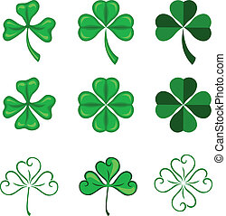 Leaves of clover - The leaves of clover in three and four...