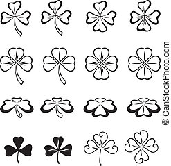 The leaves of clover in three and four leaf