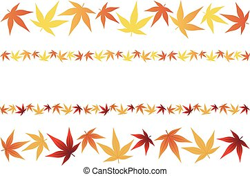 Leaves of maple of Japan - Vector illustration.