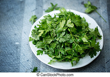 parsley on a plate