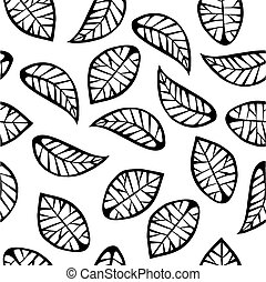 Leaves on white background