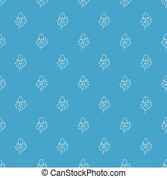 Leaves pattern seamless blue