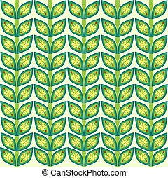 Leaves plant pattern background. Vector