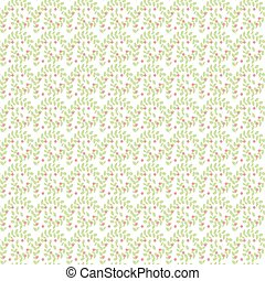 Leaves plant seamless pattern background. Vector