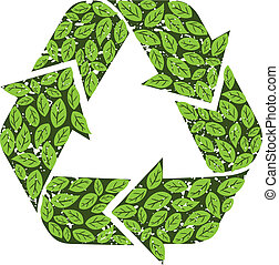 leaves recycle sign