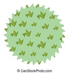 Leaves round label