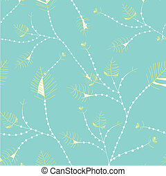 Leaves seamless whimsical pattern - pastel colors design
