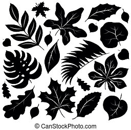 Leaves silhouettes collection 1