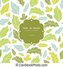 Leaves silhouettes frame seamless pattern background -...