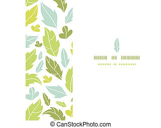 Leaves silhouettes horizontal seamless pattern background