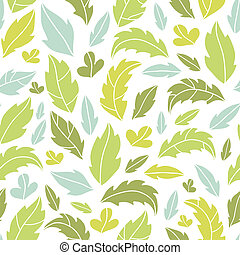 Leaves silhouettes seamless pattern background