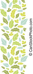 Leaves silhouettes vertical seamless pattern background