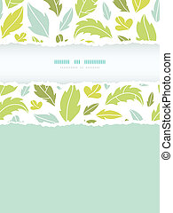 Leaves silhouettes vertical torn seamless pattern background