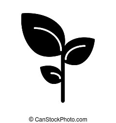 Leaves solid icon. vector illustration isolated on white. glyph style design, designed for web and app. Eps 10
