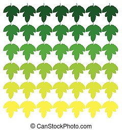 leaves vector silhouettes