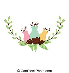 leaves wreath decoration