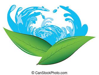 leaves&water, σήμα
