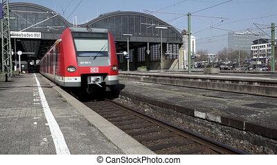 Leaving German S-Bahn - S-Bahn is leaving a German train...