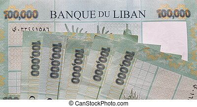 Lebanese 100000 Lira Bills