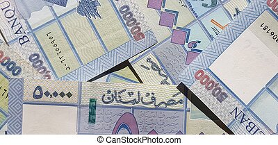 Lebanese 50000 Lira Bills