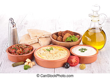 lebanese, alimento, gelado, mezze