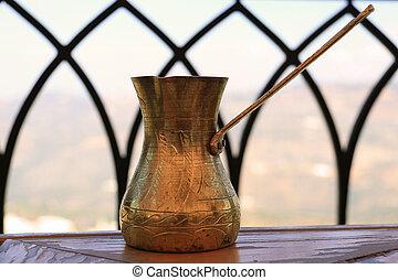 Lebanese Brass Coffee Pot