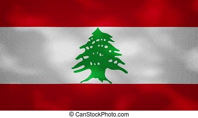 Lebanon dense flag fabric wavers, perfect loop for background