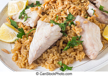 Lebanese fish rice and nuts - Lebaneses-style fried fish...