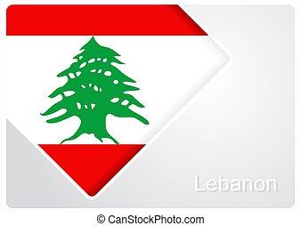 Lebanese flag design background. Vector illustration. -...