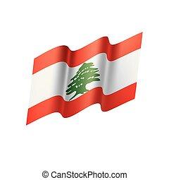 Lebanese flag, vector illustration on a white background