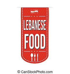Lebanese food banner design over a white background, vector...