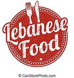 Lebanese food stamp - Lebanese food grunge rubber stamp on...