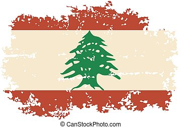 Lebanese grunge flag. Vector illustration. Grunge effect can...
