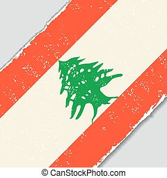 Lebanese grunge flag. Vector illustration. - Lebanese grunge...