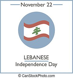 Lebanese Independence Day. November 22. Vector illustration...