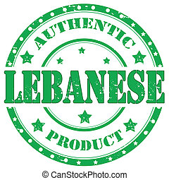 Lebanese-stamp - Grunge rubber stamp with text...