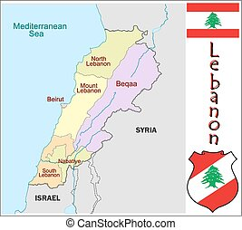 Lebanon administrative divisions