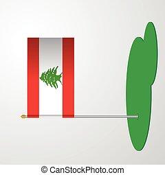 Lebanon Flag Pole