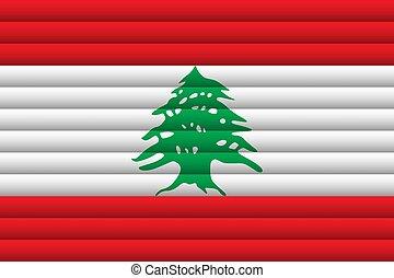 Lebanon Flag. Vector Illustration.