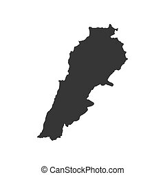 Lebanon map silhouette