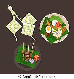 lebaran, ayam, alimento, ketupat, idul, saciar, fitri, ied, opor