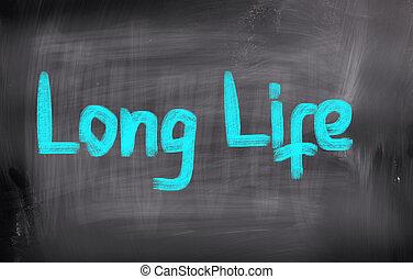 leben, begriff, langer