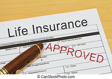 leben, bewerben, genehmigt, versicherung