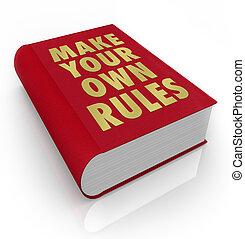 leben, eigen, regeln, machen, ladung, buch, nehmen, dein