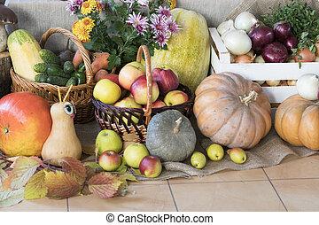 leben, gemuese, erntedank, day., früchte, noch