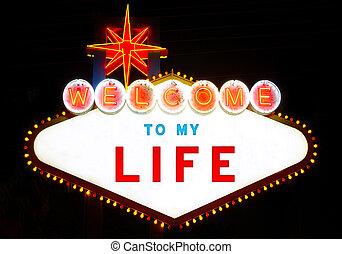 leben, herzlich willkommen, mein