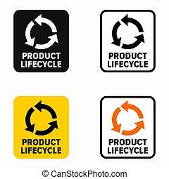 leben, produkt, symbol, zyklus
